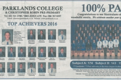 2016 Matric Results