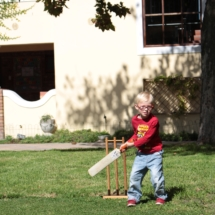 Christopher Robin Pre-Primary Cricket on The Lawn