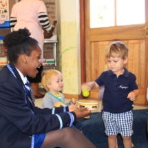 Parklands College Prefect Visit to Christopher Robin Pre-Primary