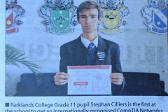 Stephan Cilliers CompTIA Network+ Certification